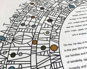 Contemporary Modern Ketubah - Abstract #1