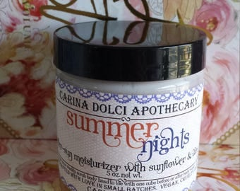 Summer Nights - After-Sun Moisturizer with Sunflower and Aloe - Plant-Based - Vegan - Gluten Free