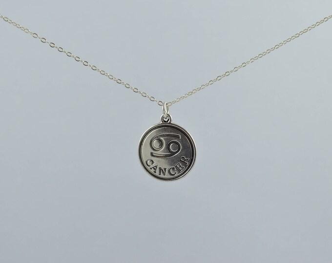 Zodiac Necklace, 12 Zodiac Signs, Constellation Necklace, Dainty Delicate Necklace, Round Charm Necklace, Zodiac Jewelry, Astrology Necklace
