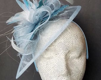 "Snow and Ice Fascinator Hat: Our ""Paisley"" Design, Holiday Fashion Hat for Christmas, Church, Derby, New Years"