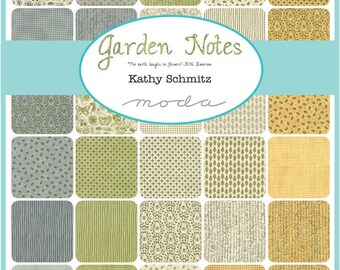 Garden Notes Charm Pack by Kathy Schmitz for Moda