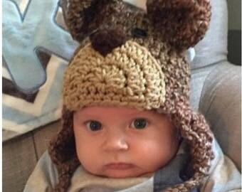 Brown Bear Grizzley Bear Hat - Baby Bear Hat - Baby Hats - Bear Hat - Winter Hat - Halloween Costume - by JoJosBootique