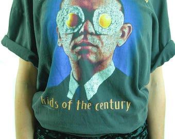 Vintage HELLOWEEN Shirt 1991 Concert Shirt Kids of the Century Halloween Shirt Metallica Iron Maiden Slayer Black Sabbath Metal Band Tee XL