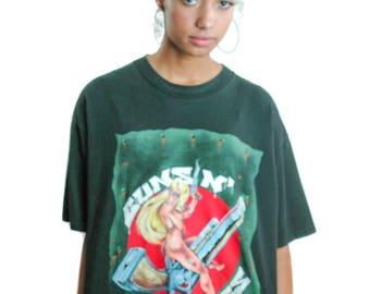 Vintage Guns n Roses shirt CONART 91 Concert shirt Band Tee guns n roses tee Heavy Metal Nirvana Slayer Testament Poison Metallica shirt XL