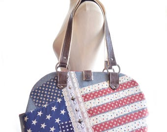 Dog Carrier | Small Dog | Dog Bag | Bags and Purses | Pet Tote | Proud American | Flag Bag | Americana