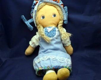 Vintage American Greetings Holly Hobbie Day 'N Night Doll, 1970s