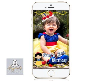 Snow White themed SnapChat Filter - Personalize for any event!