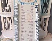 French Vintage Metal shopping list memo 60s Kitchen decor