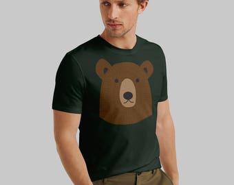 T-shirt, men's t-shirt, dark forest green, boyfriend t-shirt, mens graphic tee