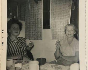 """Vintage Photo """"Buddy Biddies"""" Snapshot Antique Black & White Photograph Paper Found Ephemera Vernacular Interior Design Mood - 52"""