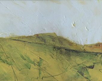 Abstract landscape mountain painting by Paul Bailey: Mountain path two