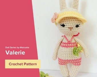 Valerie | Crochet Pattern, Crochet Bunny Pattern, Amigurumi Pattern, Amigurumi Bunny, Nyuszi minta, Horgolt nyuszi, Amigurmi nyuszi