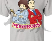 Good Neighbors - Bob Ross & Mister Rogers - Wholesome Fan Tee