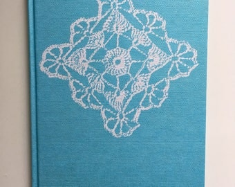The complete book of crochet, Vintage crochet book, Crochet pattern book, 1970's book, Vintage turquoise crochet hardcover book
