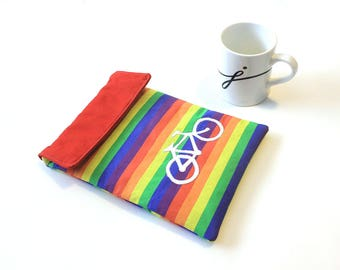 iPad Air case - iPad cover- Bicycle Rainbow ipad sleeve