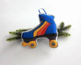 Roller skate Christmas Ornament: 1980 style skate tree decoration
