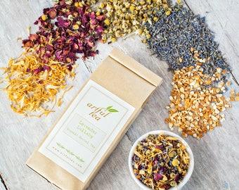 Lavender Lullaby Organic Herbal Tea • 2 oz. Kraft Bag • Soothing Calm Sleepy Loose Leaf Blend