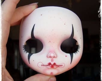 Custom Blythe Doll FACEPLATE Gothic Clown by Antique Shop Dolls