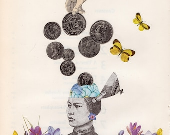 96. Memory Bank Original Collage #100daysofpaperheads #the100dayproject