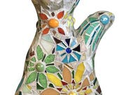 Floral Cat Garden Stake