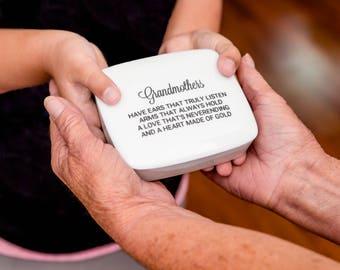 Gift-for-Grandma   Handmade Ceramic Trinket Box   Grandma   Personalized Gift for Grandma from my Charleston, SC Studio