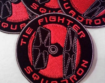 Star Wars TIE FIGHTER SQUADRON Iron On/Sew On Patch