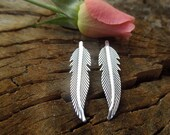 Sterling Feather Lightweight Everyday post Earrings