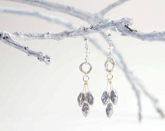 Moonstone Silver Forest Fairy Earrings