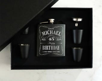 Personalized Flask, Birthday Gift, Custom Engraved Flask, Groomsman Flask, Groomsmen Gift, Gift for Him or Her, Flask, 21st Birthday Gift