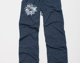 find your center Lotus Pants, Lounge Pants, Lightweight Pants, XS,S,M,L