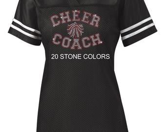 Rhinestone Cheer Coach jersey