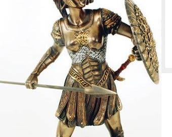 Goddess Athena Daughter of Zeus Statue Figurine