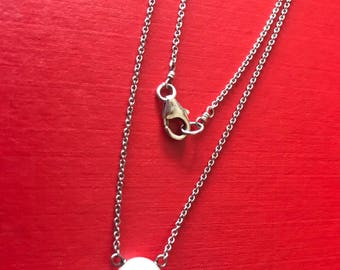 Genuine White Fresh Water Solitary Pearl Necklace