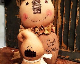 Primitive Pumpkin Man with Ghost