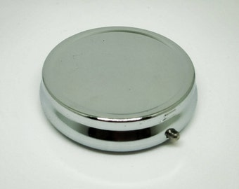 Pill Box Blank - Trinket Box - Triple compartment Pill Box Container - Trinket Box - Jewelry Travel Box