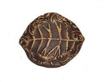 Ceramic Leaf Bracelet Bar Handmade Rustic Brown Natural
