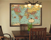 Pictorial map of the world - Wonderful illustrated map of the world - World map in mercator projection