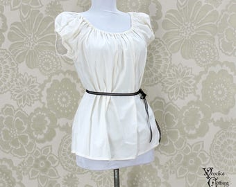 """Renaissance Steampunk Natural Cotton Willow Chemise -- Sz. S -- Fits Bust 33""""-36"""" --  Ready to Ship"""