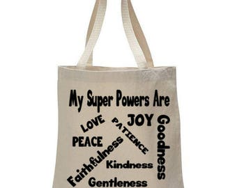 Fruits of the Spirit- Bible Verse Graphic Tote