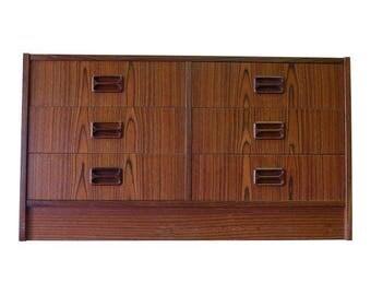 ROSEWOOD Mid Century Modern Danish JR. DRESSER cabinet