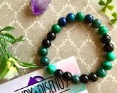 Reserved Listing for Ciranoush Naicker Malaquite bracelet. Gemstone Bead bracelet. Onix Bracelet, Green mala bracelet. Healing Bracelet