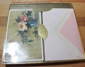 Gold Foil American Greetings Note Cards