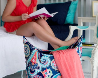 Monogrammed Laundry Hamper, Mega Tote, Personalized laundry bag, Dorm Room, college dorm, Graduation gift