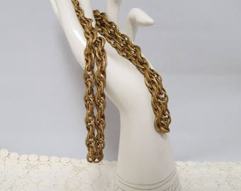 Vintage Large Link Gold Tone Chain Necklace