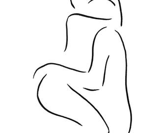Lovers sketch. Art for bedroom. Abstract erotic drawing. Sex illustration.