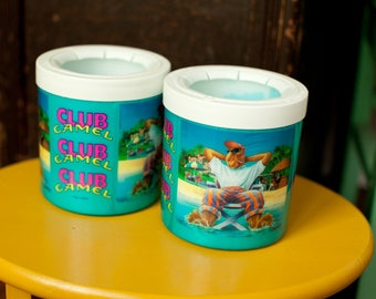 Vintage 80s 90s CAMEL Cigarettes Cozies (2) - Club Camel - beer cozies