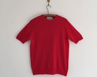 Vintage Red Cashmere Pringle of Scotland Sweater