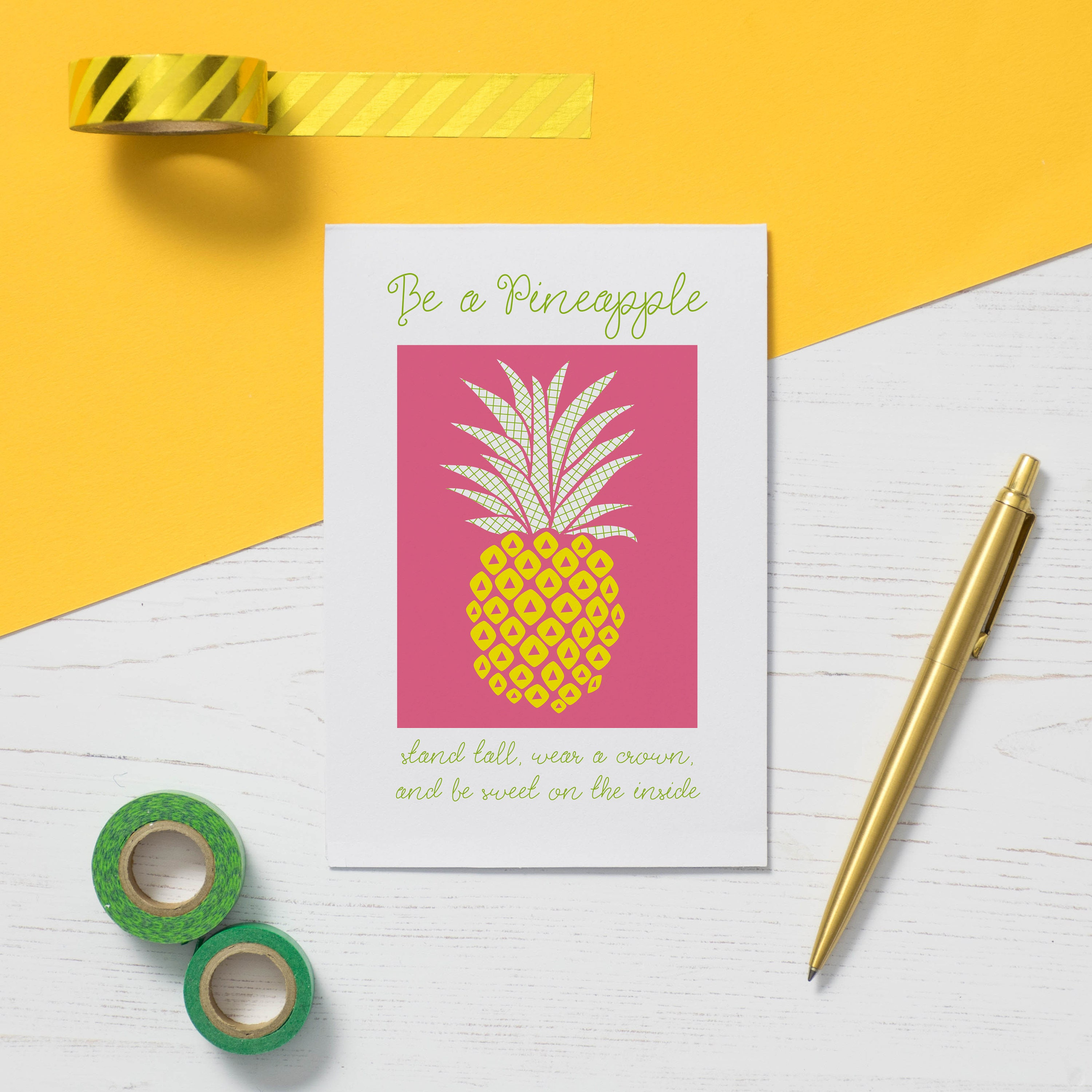Be a pineapple greeting card a fun and colourful quote card details our pineapple card is a lovely encouragement kristyandbryce Image collections