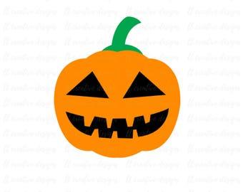 Jack-O-Lantern SVG, Halloween SVG Files, Fall SVG, Silhouette Cut Files, Cricut Cut Files