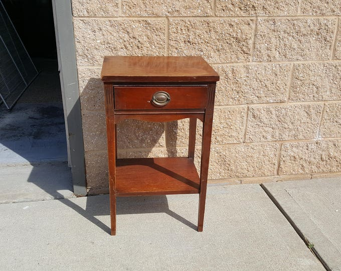 Vintage Shabby chic night table, PICK UP ONLY painting inc., rustic farmhouse night stand, france bedroom,  bedside table, french country,